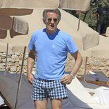 Alfonso Díez en una playa de Ibiza