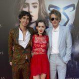 Robert Sheehan, Lily Collins y Jamie Campbell Bower en el estreno de 'Cazadores de Sombras: Ciudad de Hueso' en Madrid