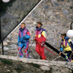 La Infanta Cristina y Álvaro Bultó esquiando