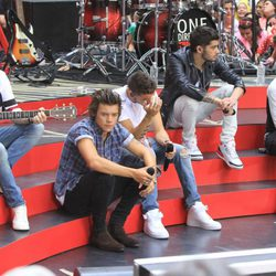 Los One Direction durante su actuación en Rockefeller Center