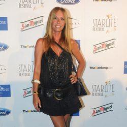 Lara Dibildos en el concierto de David Bisbal en el Starlite Festival 2013