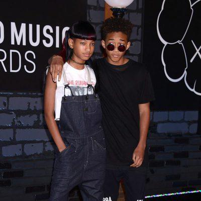 Willow y Jaden Smith en la alfombra roja de los MTV VMA 2013