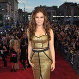 Zoey Deutch en la alfombra roja de los MTV VMA 2013