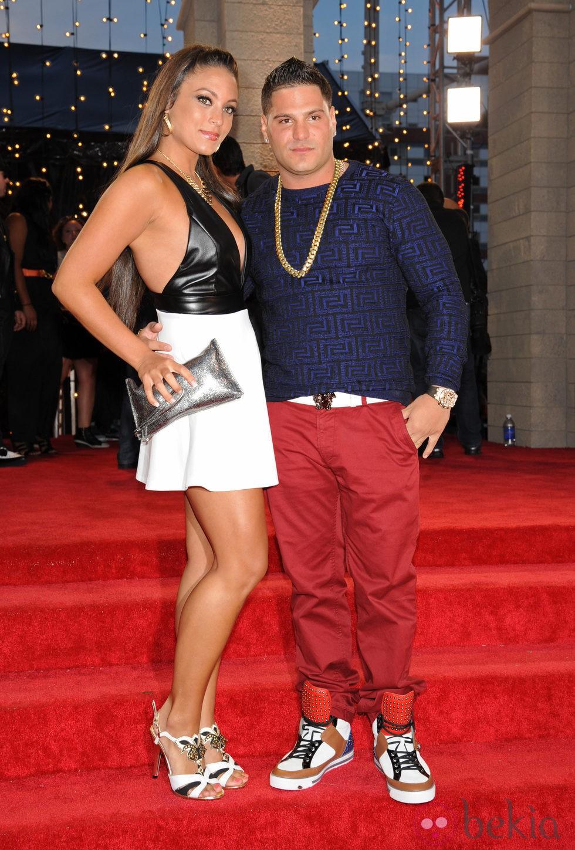 Sammi Giancola y Ronnie Ortiz-Magro en los MTV VMA 2013