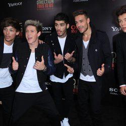 Los One Direction en el estreno de '1D: This is Us' en Nueva York