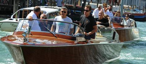 George Clooney a su llegada a la Mostra de Venecia 2013