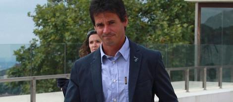 Álex Crivillé en el funeral de Alvaro Bultó