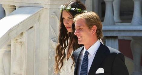 Andrea Casiraghi y Tatiana Santo Domingo tras su boda