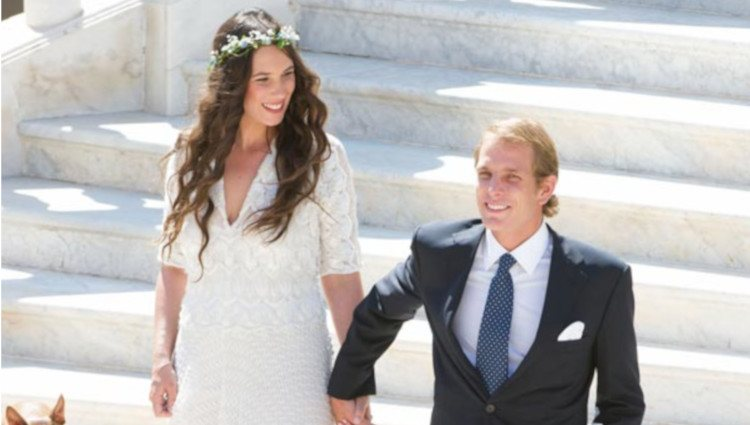Foto oficial de la boda de Andrea Casiraghi y Tatiana Santo Domingo