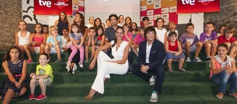 Eva González, Jordi Cruz, Pepe Rodríguez y Samantha Vallejo-Nájera presentan 'Masterchef Junior' en el FesTVal de Vitoria 2013