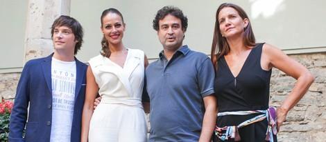 Eva González y el jurado de 'Masterchef Junior' en el FesTVal de Vitoria 2013