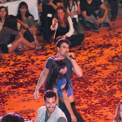 Christian Sánchez y María Hinojosa en la presentación de 'Dreamland' en el FesTVal de Vitoria 2013