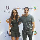 Paula Echevarría y Miguel Ángel Silvestre en la presentación de 'Galerías Velvet' en el FesTVal de Vitoria 2013