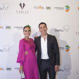 Paula Echevarría y Miguel Ángel Silvestre en el estreno de 'Galerías Velvet' en el FesTVal de Vitoria 2013