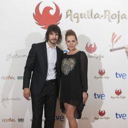 David Janer y Miryam Gallego en el estreno de los nuevos capítulos de 'Águila Roja' en el FesTVal de Vitoria 2013