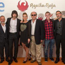 El reparto de 'Águila Roja' en el estreno de los nuevos capítulos de en el FesTVal de Vitoria 2013