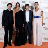 Eva González y el jurado de 'Masterchef' en la clausura del FesTVal de Vitoria 2013