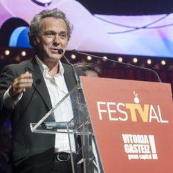 José Coronado en la clausura del FesTVal de Vitoria 2013