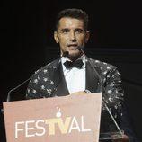 Jesús Vázquez en la clausura del FesTVal de Vitoria 2013
