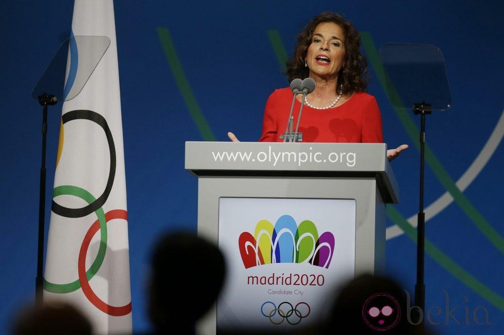 Ana Botella en la presentación final de Madrid 2020 ante el COI
