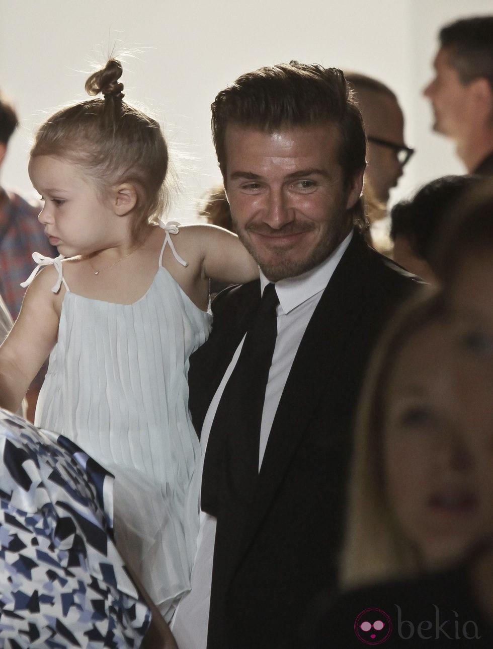 David Beckham con Harper Seven en la Semana de la Moda Nueva York primavera/verano 2014