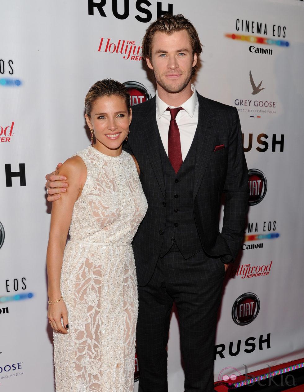 Elsa Pataky y Chris Hemsworth en el estreno de 'Rush' en el Festival Internacional de Toronto 2013