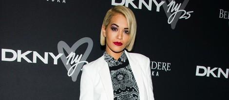 Rita Ora en la fiesta del 25 aniversario de DKNY en Nueva York