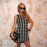 Paris Hilton en el front row de Alice & Olivia primavera/verano 2014 en la Semana de la Moda de Nueva York