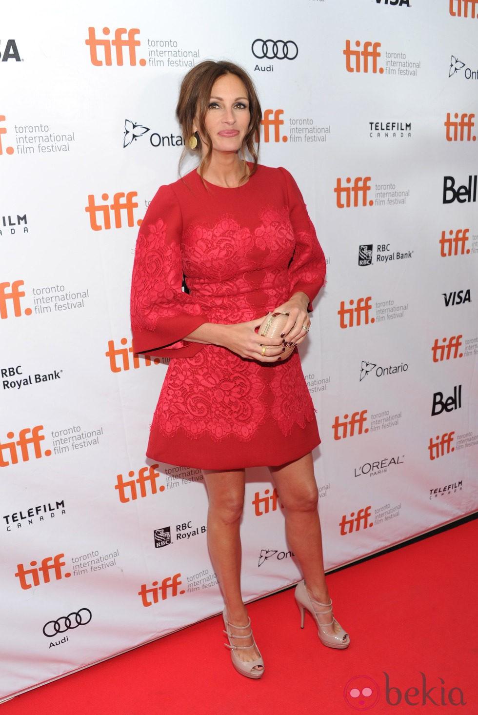 Julia Roberts en el estreno de 'Agosto' en el Festival Internacional de Cine de Toronto 2013