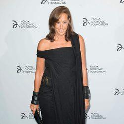 Donna Karan en una cena benéfica de la Fundación Novak Djokovic