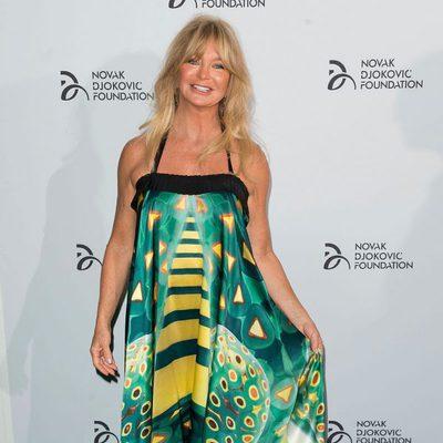 Goldie Hawn en una cena benéfica de la Fundación Novak Djokovic