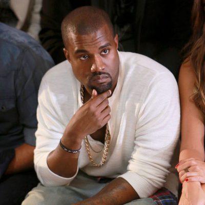 Kanye West en el desfile primavera/verano 2014 de Diesel en la Semana de la Moda de Nueva York