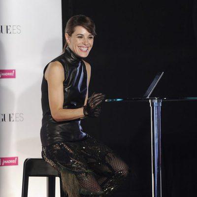 Raquel Sánchez Silva muy sonriente en la Vogue Fashion's Night Out 2013