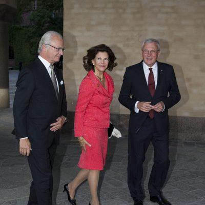 Carlos Gustavo y Silvia de Suecia antes de celebrar el Jubileo del Rey