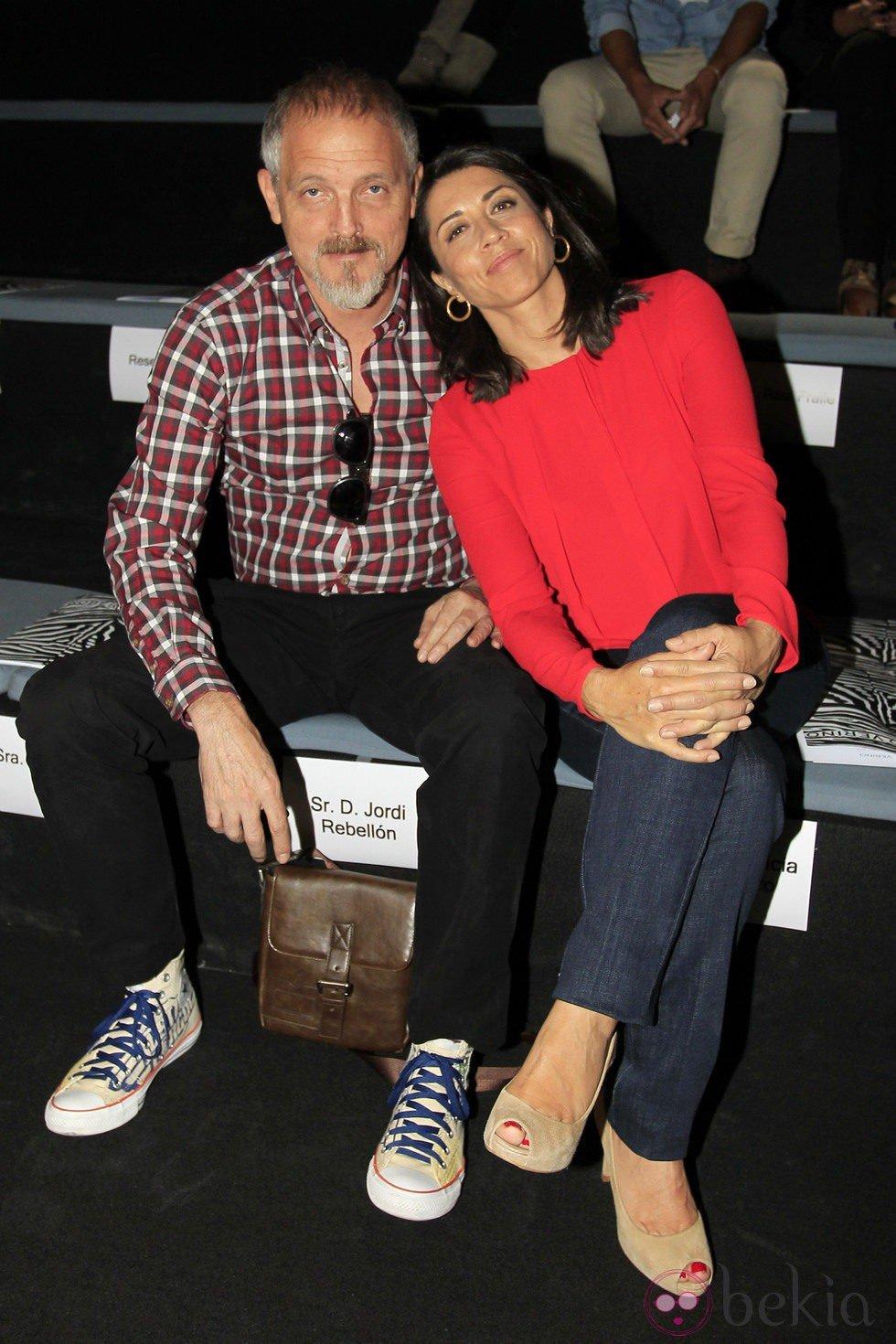 Anterior Jordi Rebellón y Alicia Borrachero en el desfile primavera/verano 2014 de Roberto Verino en