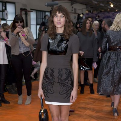 Alexa Chung en la London Fashion Week 2013