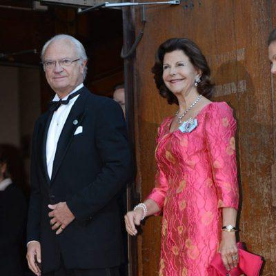 El Rey Carlos XVI Gustavo y la Reina Silvia de Suecia celebrando el Jubileo
