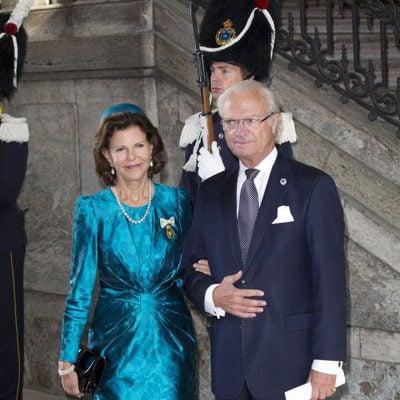 El Rey Carlos Gustavo y la Reina Silvia de Suecia en la misa de Acción de Gracias del Jubileo
