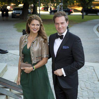 La Princesa Magdalena de Suecia y Chris O' Neill en el Jubileo del Rey Carlos Gustavo de Suecia