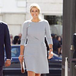 Máxima de Holanda a su llegada al Congreso de los Diputados durante su visita a España