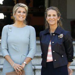 Máxima de Holanda y la Infanta Elena en el Palacio de la Zarzuela