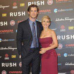 Chris Hemsworth y Elsa Pataky en el estreno de 'Rush' en Roma