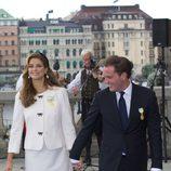 Magdalena de Suecia y Chris O'Neill en el Jubileo del Rey Carlos Gustavo de Suecia