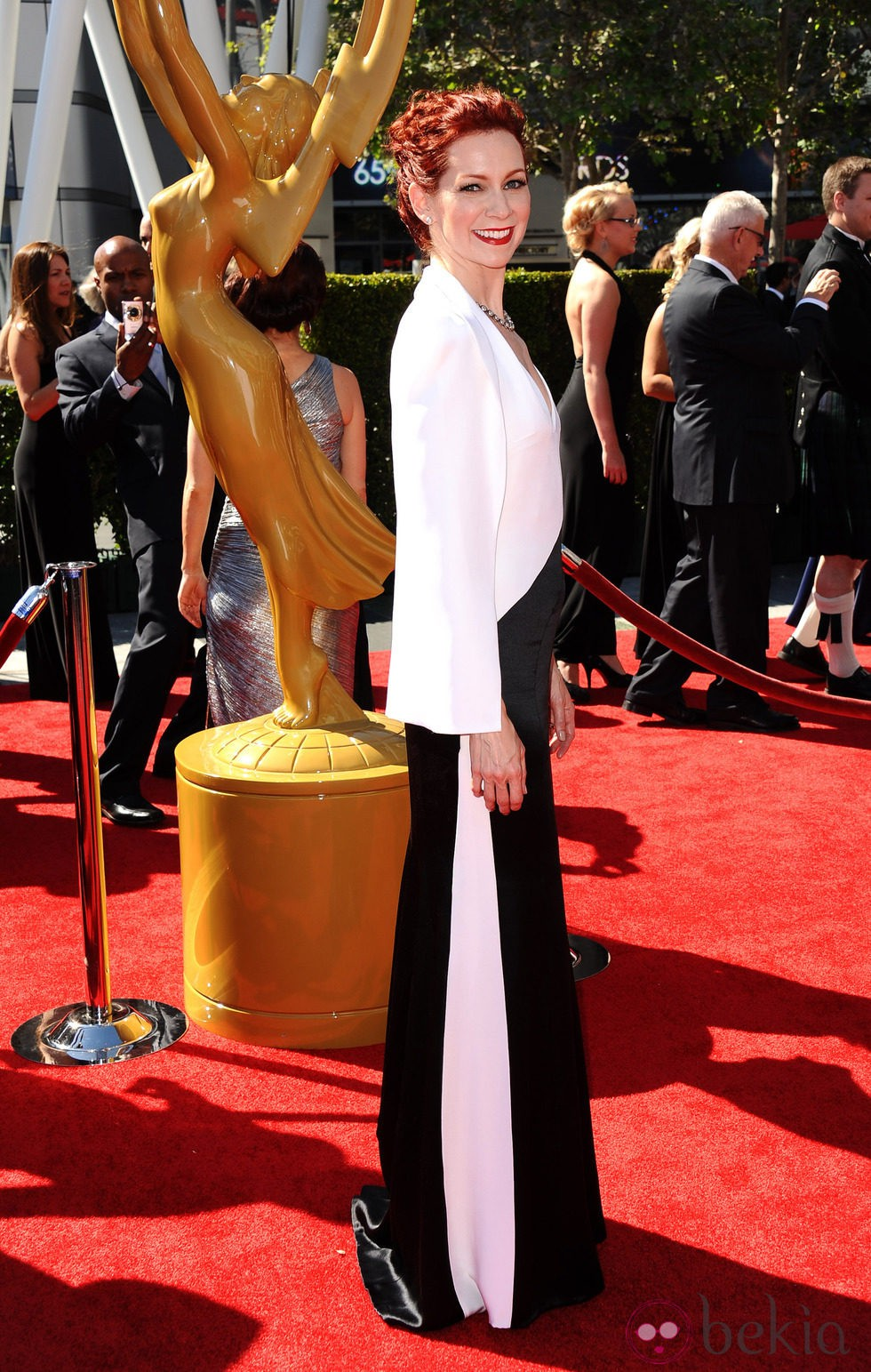 Carrie Preston en los Emmy Creativos 2013