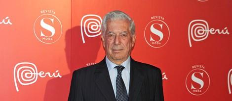 Mario Vargas Llosa en la fiesta Perú Moda de Madrid Fashion Week