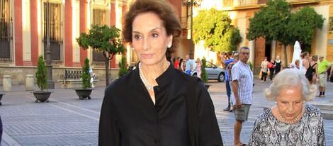 Ana María Abascal en la misa funeral de la Duquesa de Medinaceli