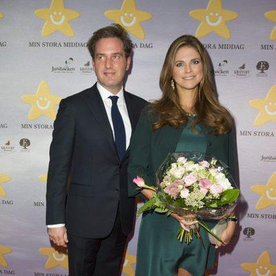 Magdalena de Suecia y Chris O'Neill en un acto oficial en pareja tras anunciar que serán padres