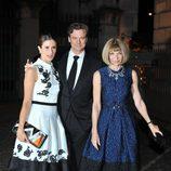 Livia y Colin Firth con Anna Wintour en la fiesta de The Global Fund