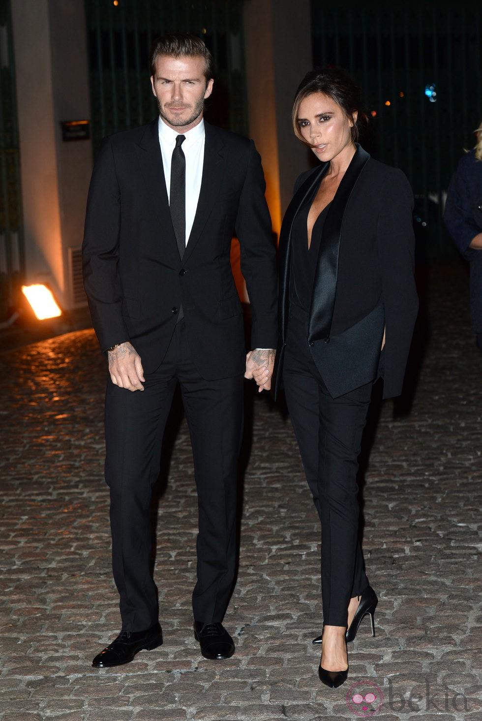 David y Victoria Beckham en la fiesta de The Global Fund