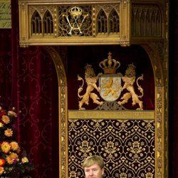 Guillermo Alejandro de Holanda en su primera apertura del Parlamento como Rey